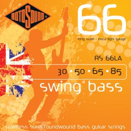 Rotosound Swing Bass 30-85 Extra Light Stainless Steel Bass Guitar Strings RS66LA