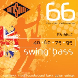 Rotosound Swing Bass 40-95 Medium Stainless Steel Bass Guitar Strings RS66LC