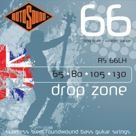 Rotosound Drop Zone 65-130 Stainless Steel Bass Guitar Strings RS66LH