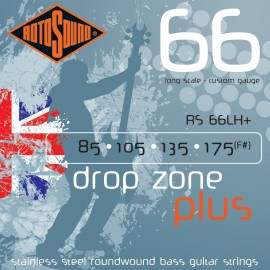 Rotosound Drop Zone Plus 85-175 Stainless Steel Bass Guitar Strings RS66LH+