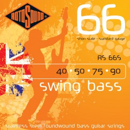 Rotosound Swing Bass 40-90 (Short Scale) Standard Stainless Steel Bass Guitar Strings RS66S
