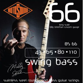 Rotosound Billy Sheehan 43-110 Stainless Steel Bass Guitar Strings BS66