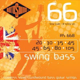 Rotosound RS668 8 String, Swing Bass 66, Long Scale 20 - 105