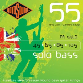 Rotosound Solo 45-105 Standard Stainless Steel Pressure Wound Bass Guitar Strings RS55LD