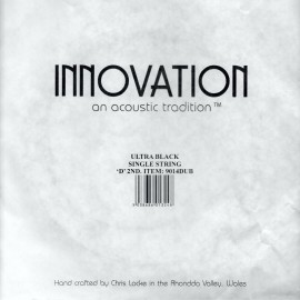 Innovation 'D' (2nd) SINGLE ULTRA BLACK Double Bass String High Tension Black Nylon Tape Wound