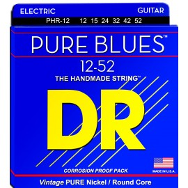 Dr Handmade PURE BLUES 12-52 Extra Heavy Pure Nickel Electric Guitar Strings PHR-12