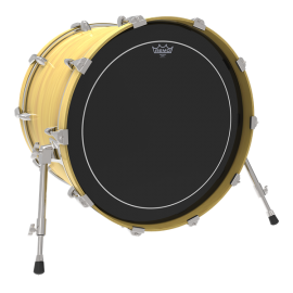 """Remo ES-1624-PS 24"""" Ebony Pinstripe Two Ply Bass Drum Skin"""