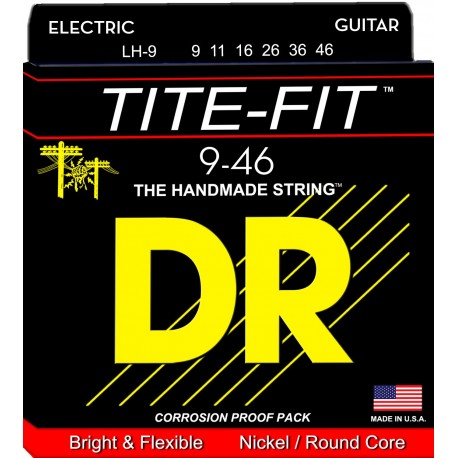 Dr Handmade TITE-FIT 09-46 Lite & Heavy Nickel Plated Electric Guitar Strings LH-9