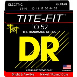 Dr Handmade TITE-FIT 10-52 Big & Heavy Nickel Plated Electric Guitar Strings BT-10