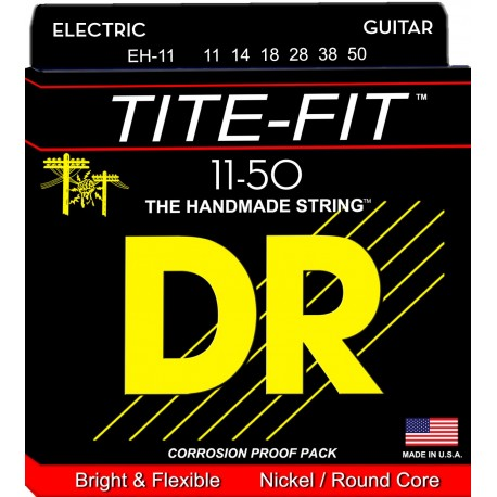 Dr Handmade TITE FIT 11-50 Heavy Nickel Plated Electric Guitar Strings EH-11
