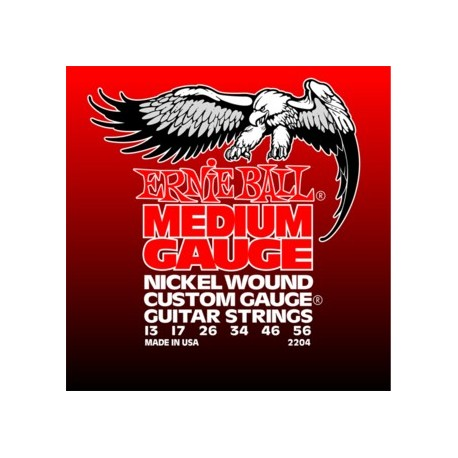 Ernie Ball Medium Nickel Wound Electric Guitar Strings with Wound 'G'