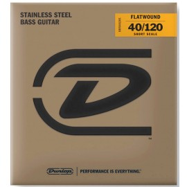Dunlop 5 String Short Scale 40-120 Stainless Steel Bass Guitar Strings DBFS40120S