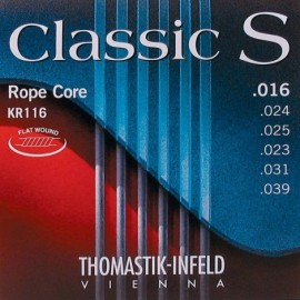 Thomastik Classic S Rope Core 16-39 High Tension Flatwound Classical & Folk Guitar Strings KR116