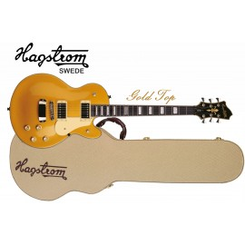 Hagstrom Swede 6 String Gold Top Electric Guitar with Hagstrom Hard Case