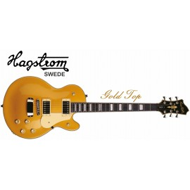 Hagstrom Swede 6 String Gold Top Electric Guitar