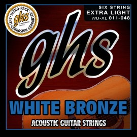 Ghs White Bronze 11-48 Extra Light Alloy 52 Acoustic Guitar Strings WB-XL