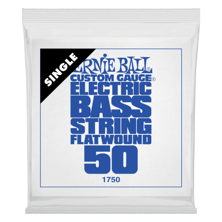 Ernie Ball Flatwound .050 Single Long Scale Electric Bass String P01750