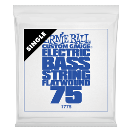 Ernie Ball Flatwound .075 Single Long Scale Electric Bass String P01775