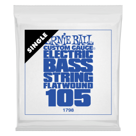 Ernie Ball Flatwound .105 Single Long Scale Electric Bass String P01798