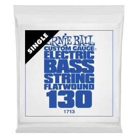 Ernie Ball Flatwound .130 Single Long Scale Electric Bass String P01713