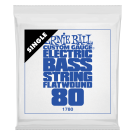 Ernie Ball Flatwound .080 Single Long Scale Electric Bass String P01780