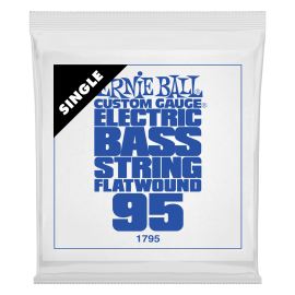 Ernie Ball Flatwound .095 Single Long Scale Electric Bass String P01795