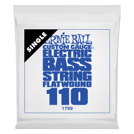 Ernie Ball Flatwound .110 Single Long Scale Electric Bass String P01799