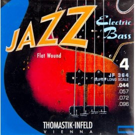 """Thomastik Jazz 44-96 Extra Long Scale (36"""") Flatwound Bass Guitar Strings JF364"""