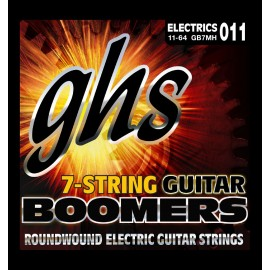 Ghs 7 String Boomers 11-64 Medium Heavy Nickel Round Wound Electric Guitar Strings GB7MH